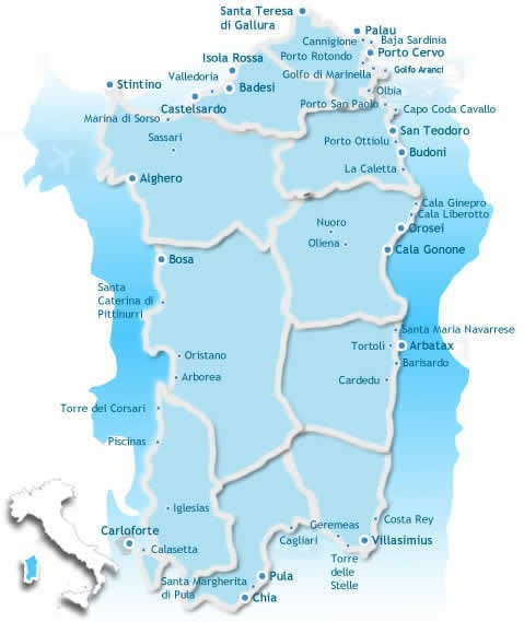 Mappa delle Offerte in Sardegna