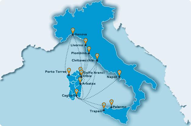 Rotte Traghetti per la Sardegna