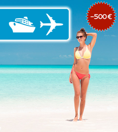 Save 500 € on Ferries or Flights