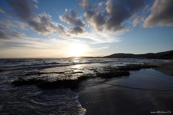 Tramonto in spiaggia Sardegna
